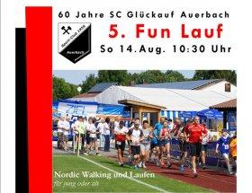 Funlauf beim 60-jährigen Jubiläum am Sonntag den 14. August 2016 - Beginn 10:30 Uhr